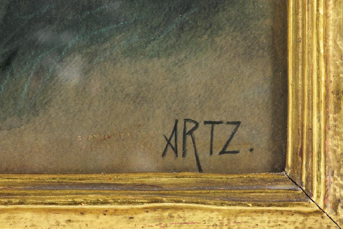 Artz, Family at Seaside, Gouache - 8