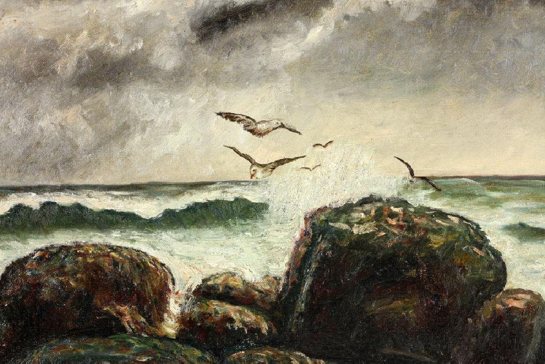 19th C. Seaside, Oil on Canvas - 4