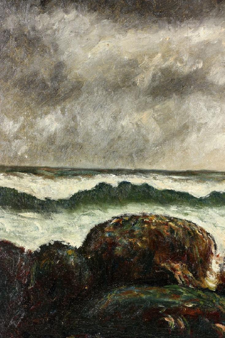 19th C. Seaside, Oil on Canvas - 6