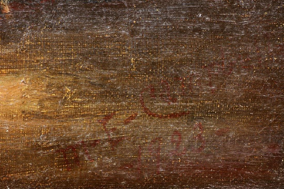 19th C. Seaside, Oil on Canvas - 8