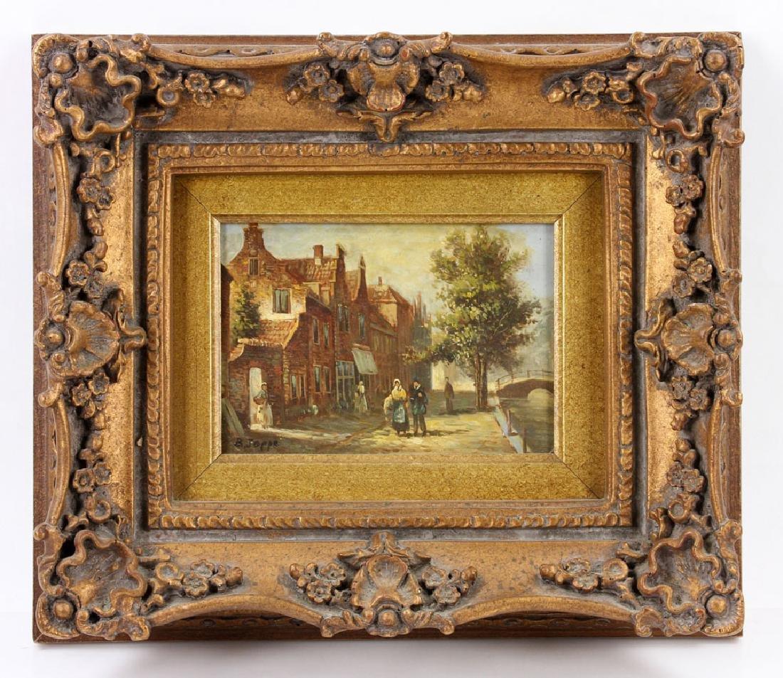 Joppe, Dutch Street Scene, Oil on Board