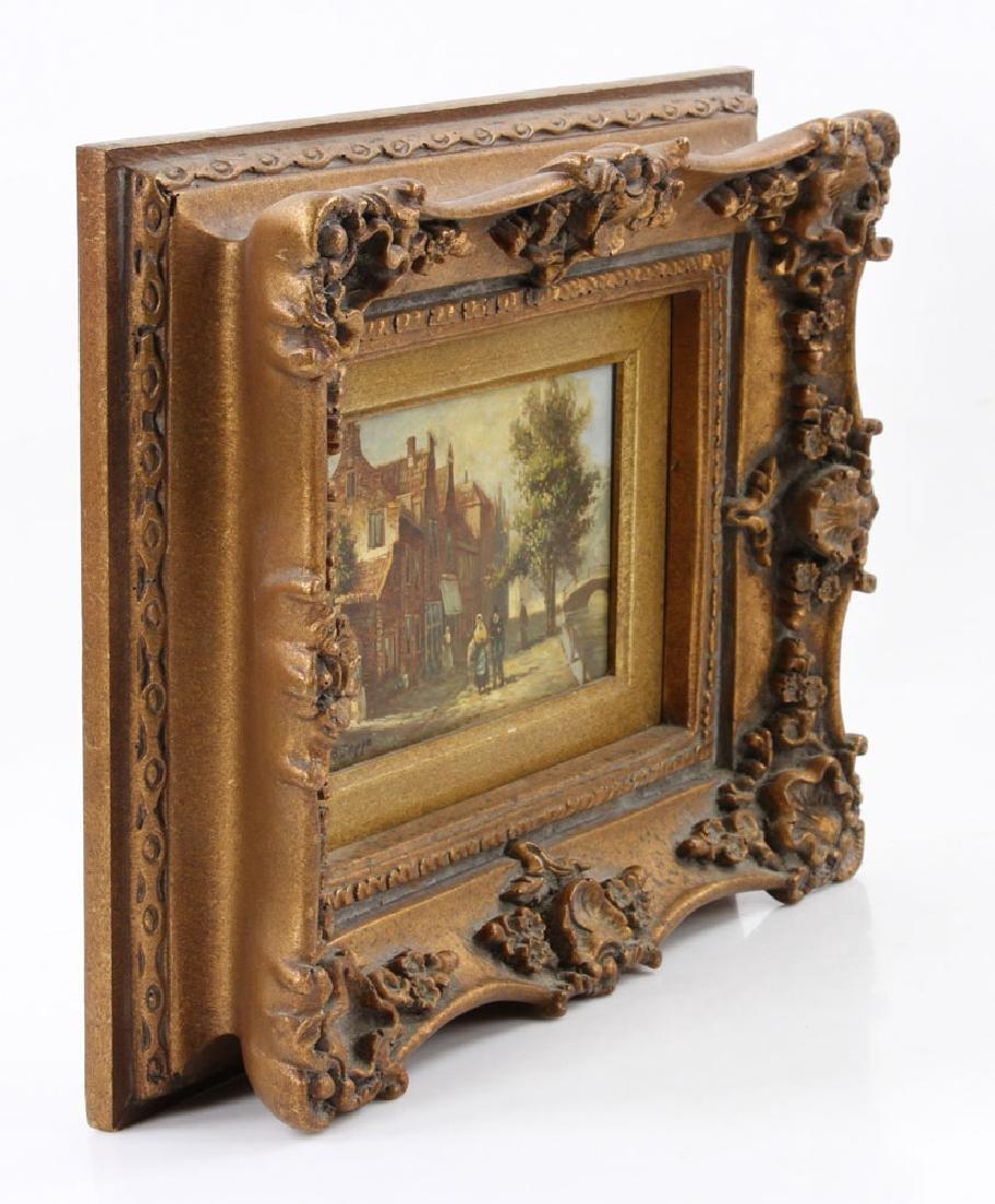 Joppe, Dutch Street Scene, Oil on Board - 2