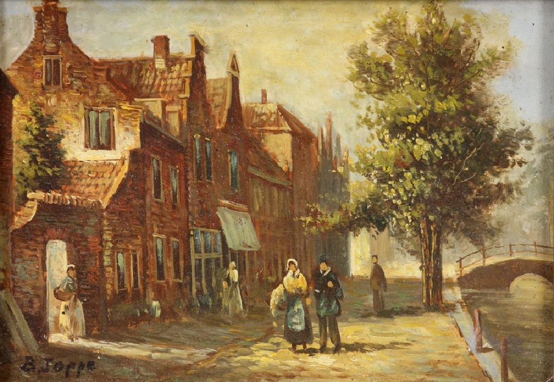 Joppe, Dutch Street Scene, Oil on Board - 5