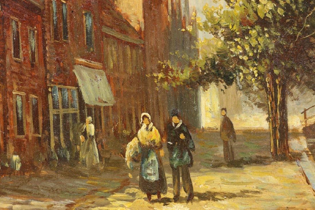 Joppe, Dutch Street Scene, Oil on Board - 6