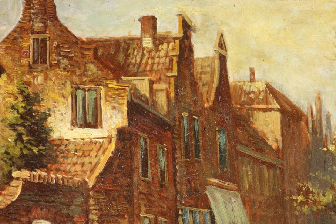 Joppe, Dutch Street Scene, Oil on Board - 8