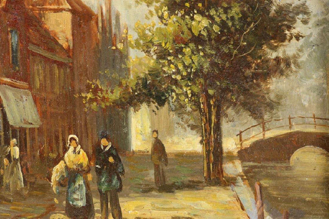 Joppe, Dutch Street Scene, Oil on Board - 9