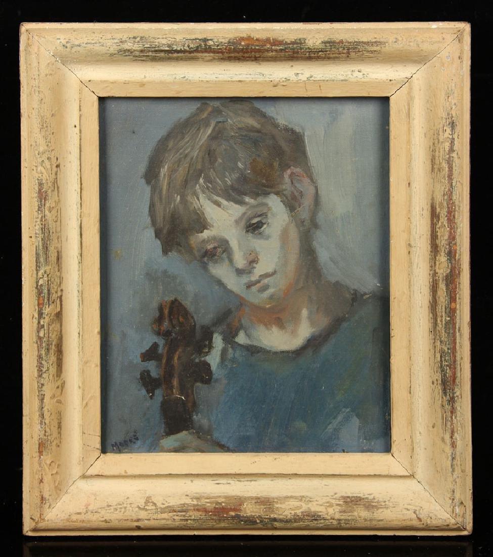 Moore, Portrait of Sandra Herbert, Oil on Canvas Board