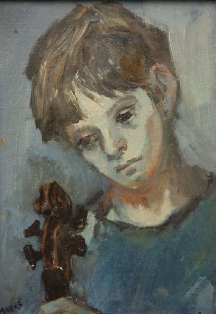Moore, Portrait of Sandra Herbert, Oil on Canvas Board - 2