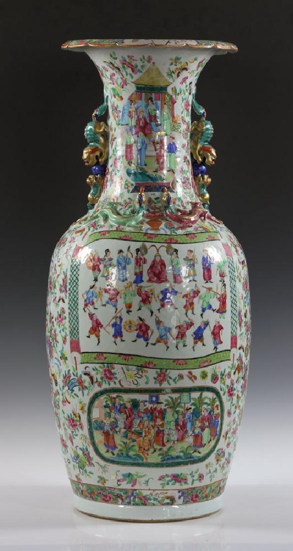 Large Rose Medallion Vase