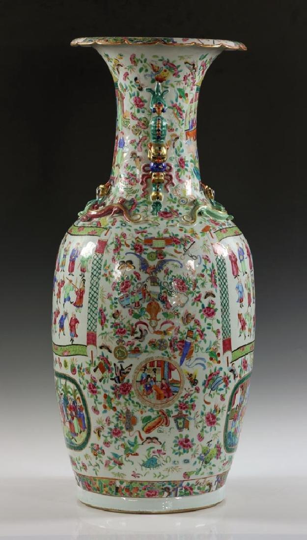 Large Rose Medallion Vase - 2