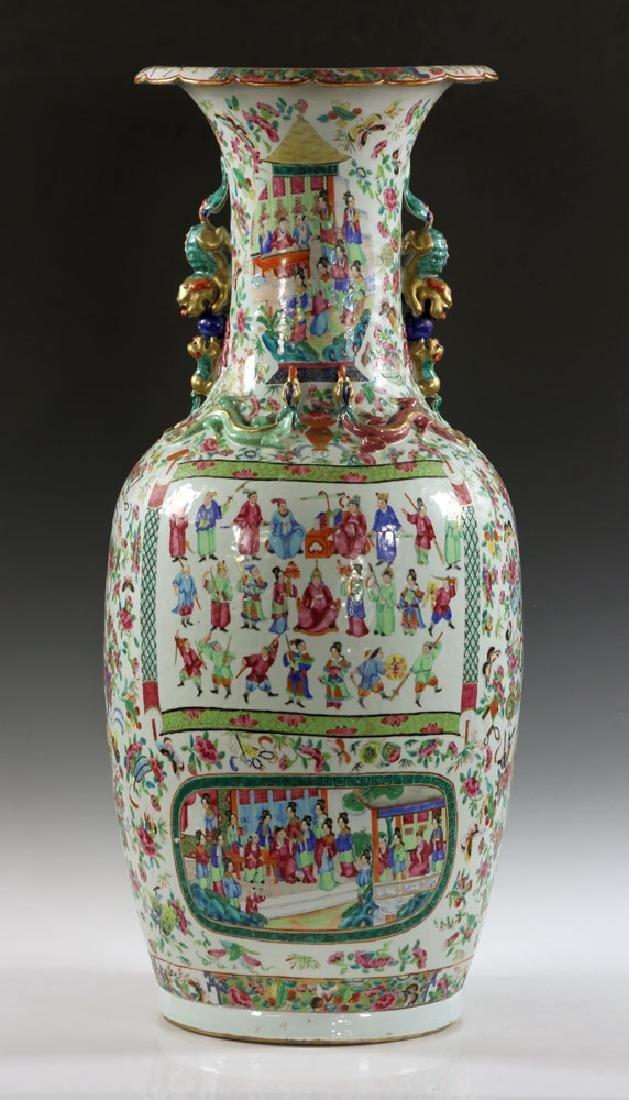 Large Rose Medallion Vase - 3