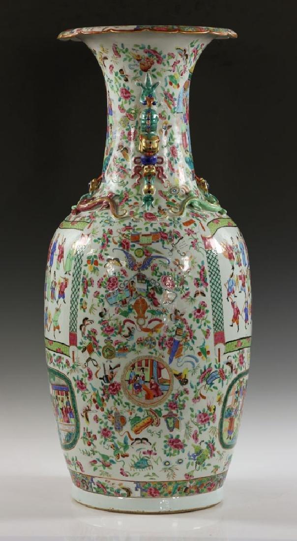 Large Rose Medallion Vase - 4