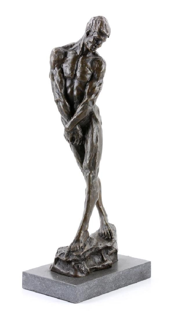 After Rodin, Male Nude, Bronze