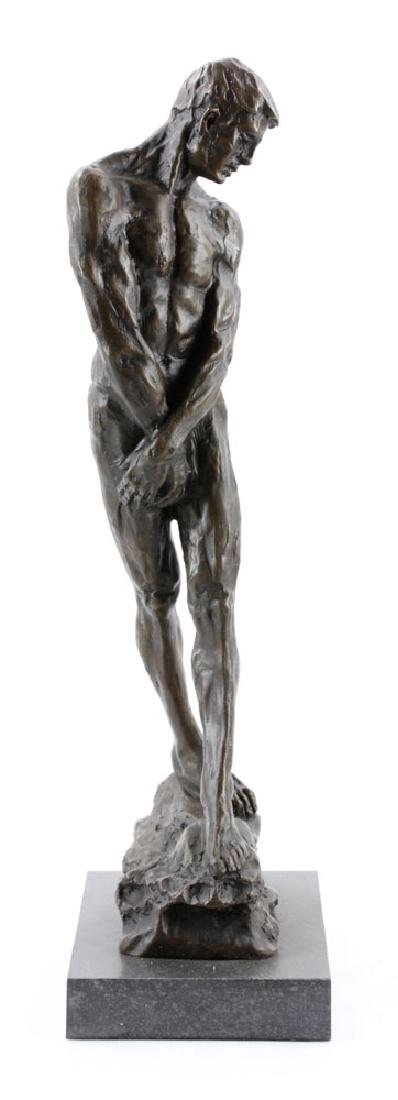 After Rodin, Male Nude, Bronze - 2