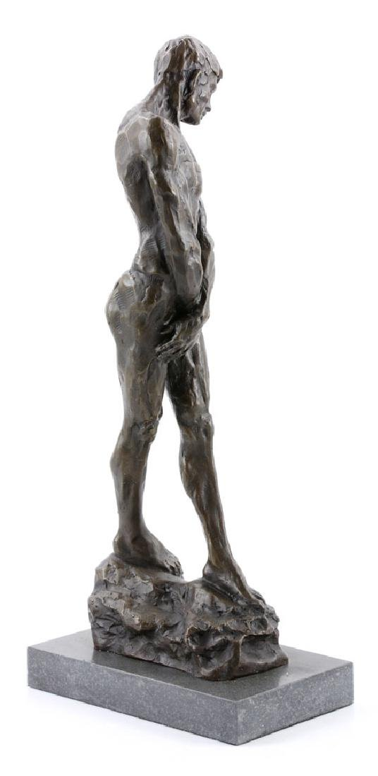 After Rodin, Male Nude, Bronze - 3