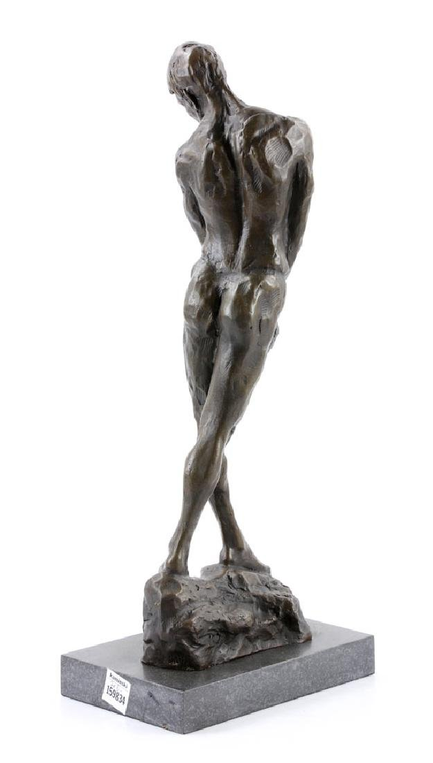 After Rodin, Male Nude, Bronze - 4
