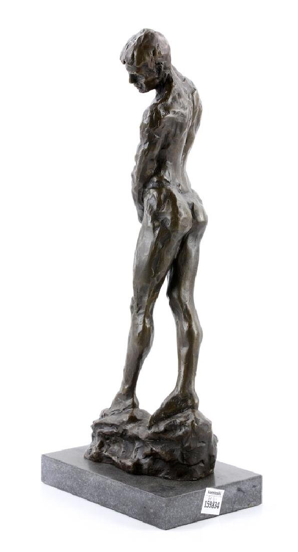 After Rodin, Male Nude, Bronze - 5