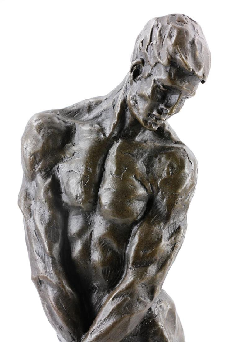 After Rodin, Male Nude, Bronze - 6