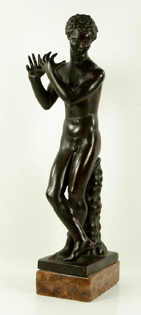 Sculpture of Young Boy, Bronze