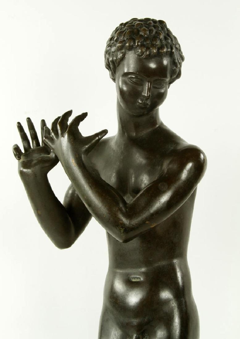 Sculpture of Young Boy, Bronze - 3
