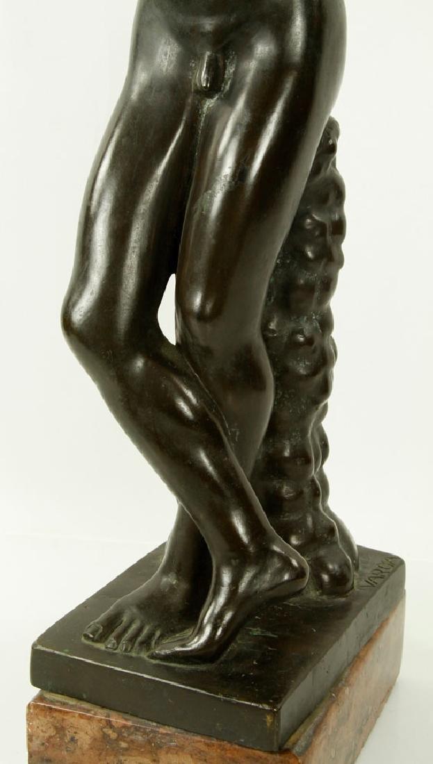 Sculpture of Young Boy, Bronze - 4