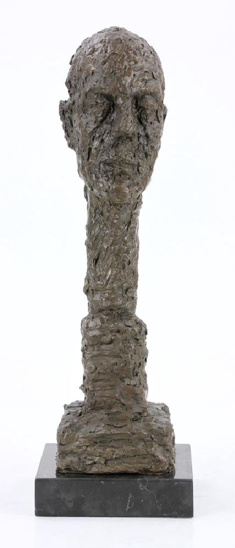 After Giacometti, Head of a Man, Bronze