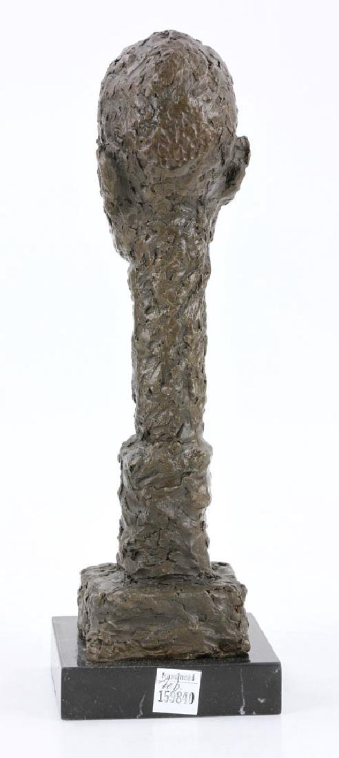 After Giacometti, Head of a Man, Bronze - 5
