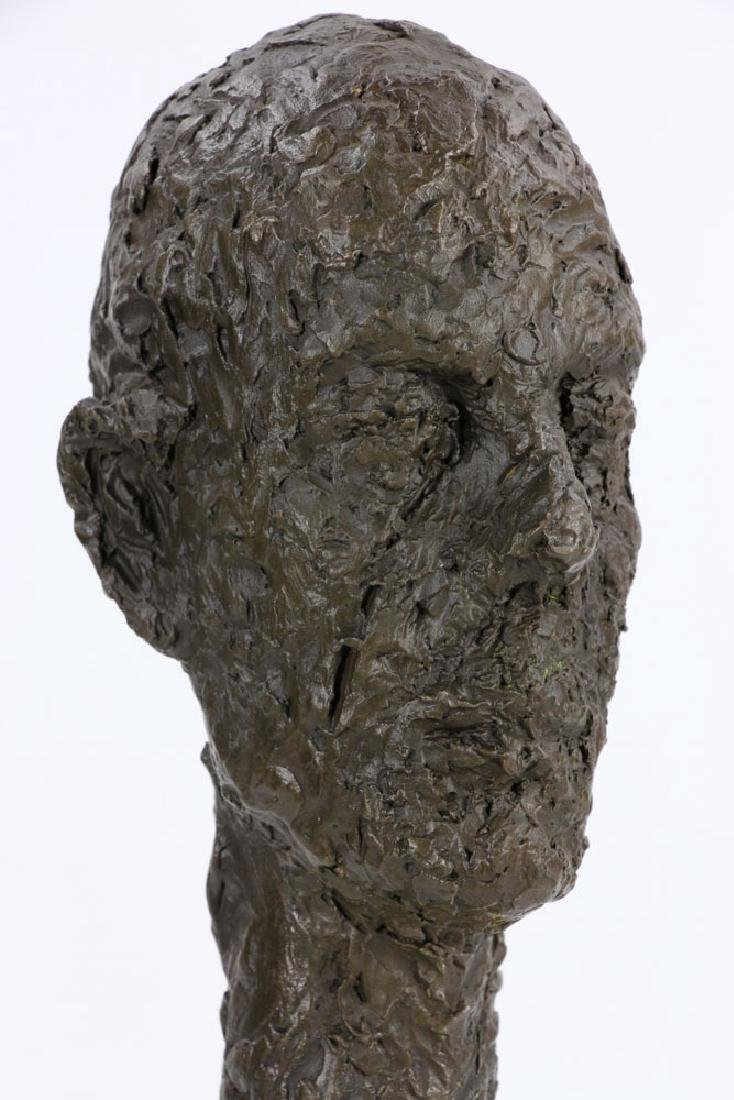After Giacometti, Head of a Man, Bronze - 7