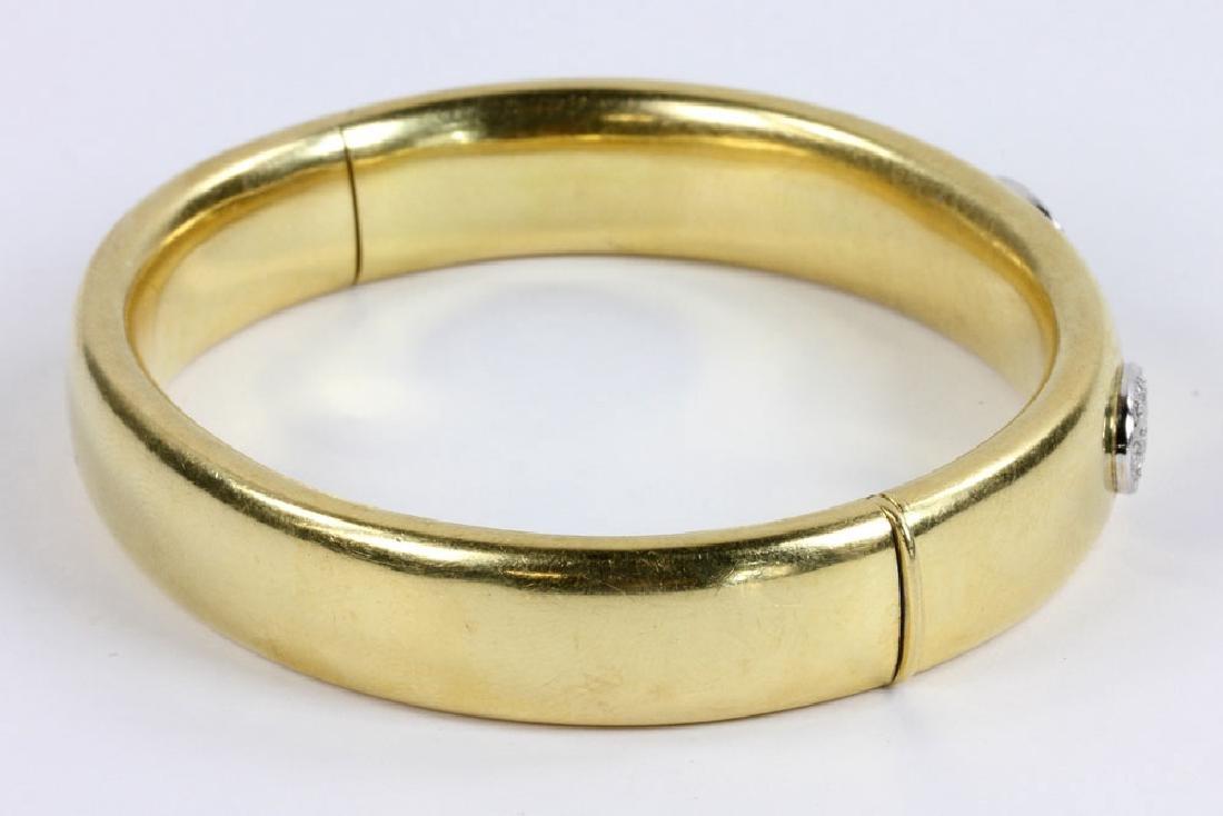 18K Gold and Diamond Bracelet - 2