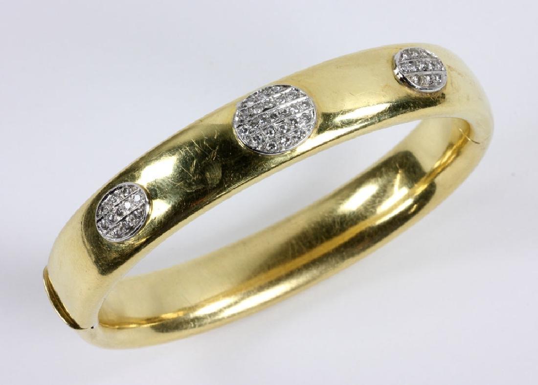 18K Gold and Diamond Bracelet - 4