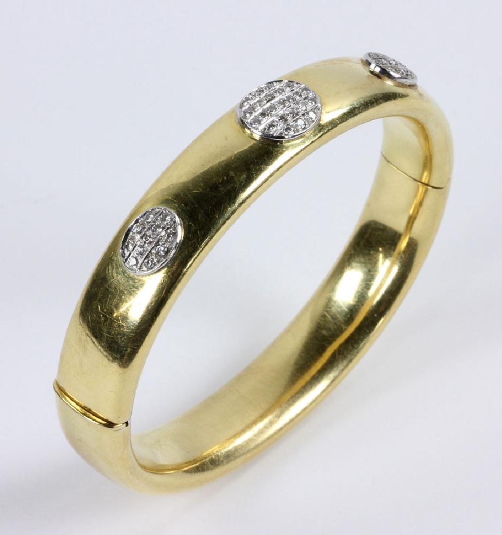 18K Gold and Diamond Bracelet - 5