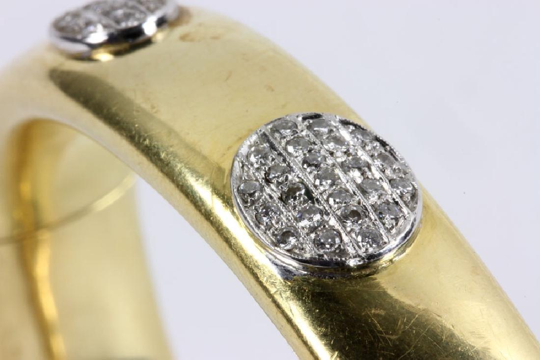 18K Gold and Diamond Bracelet - 8
