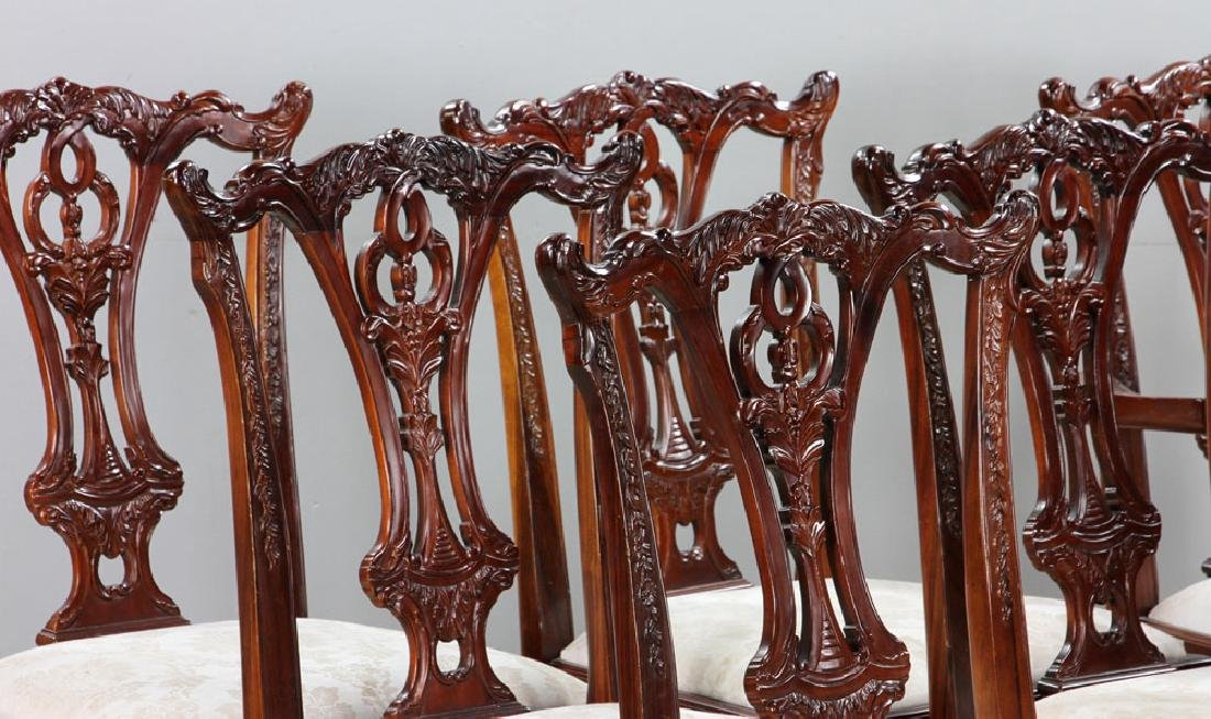 Set of Eight Chippendale Style Chairs - 3