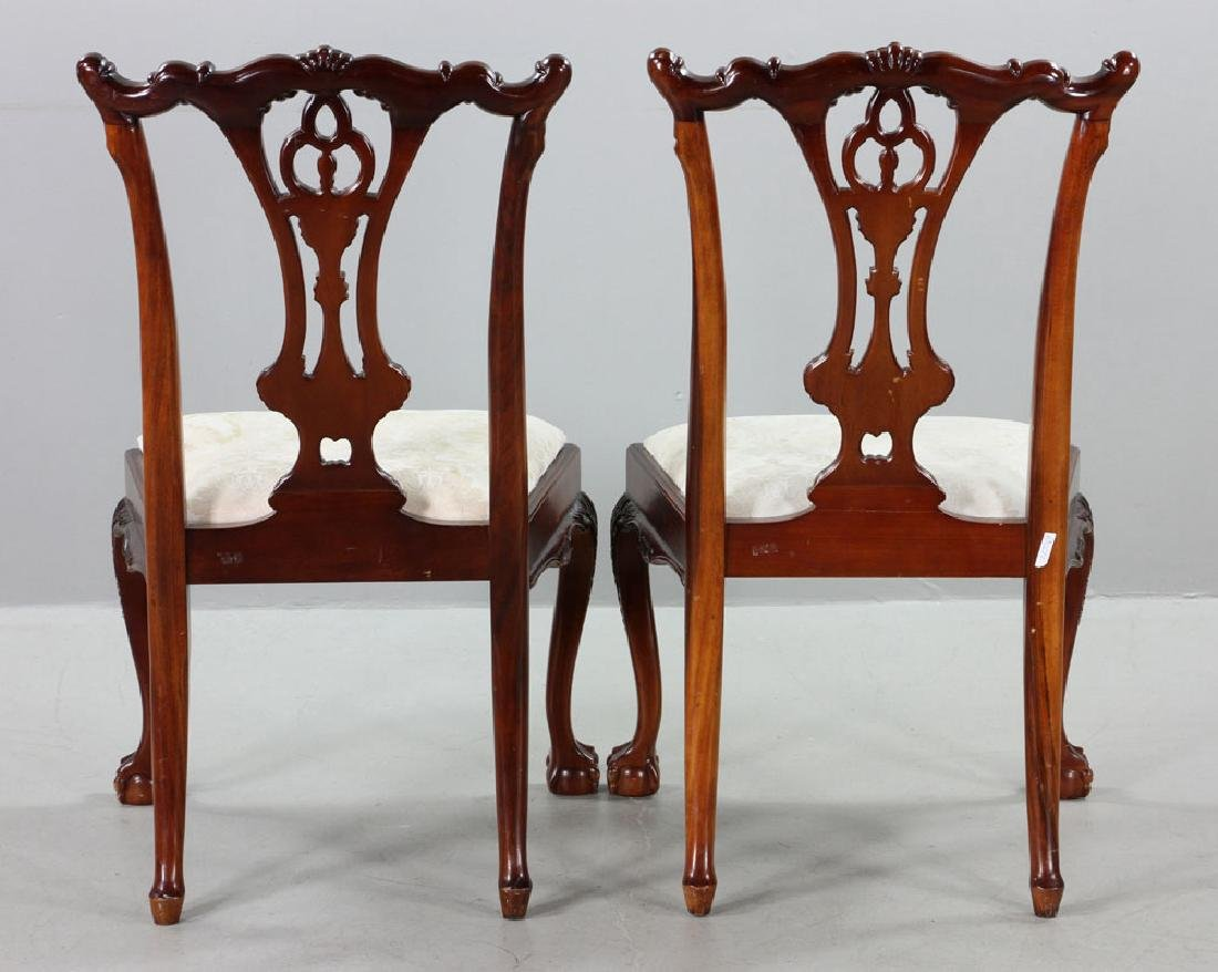 Set of Eight Chippendale Style Chairs - 4
