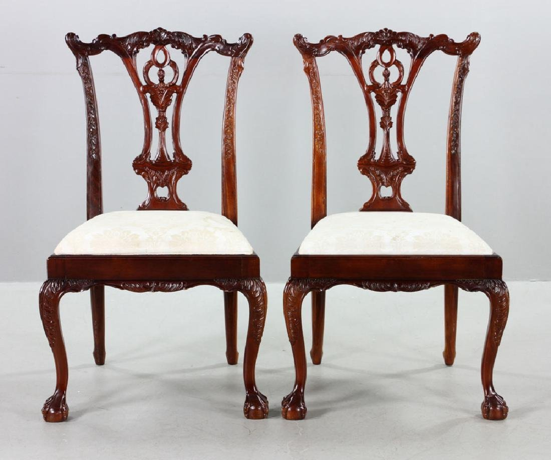 Set of Eight Chippendale Style Chairs - 5