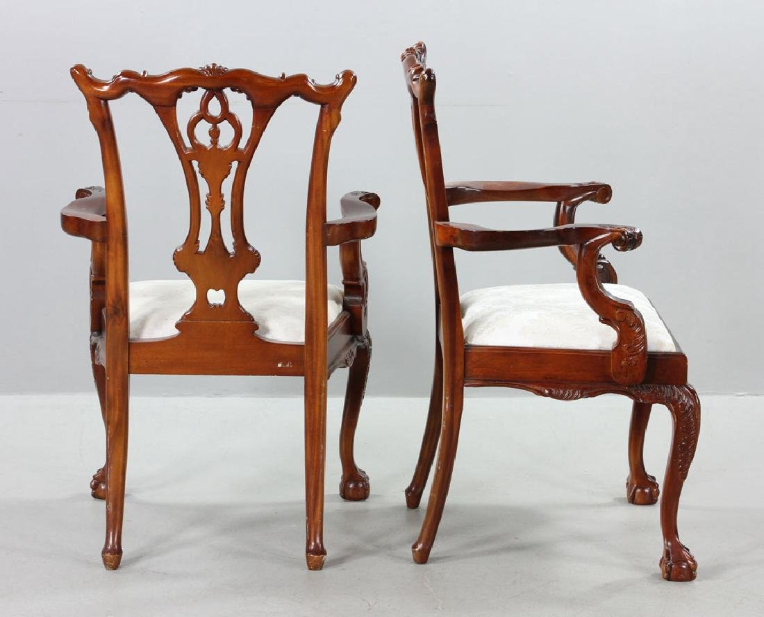 Set of Eight Chippendale Style Chairs - 7