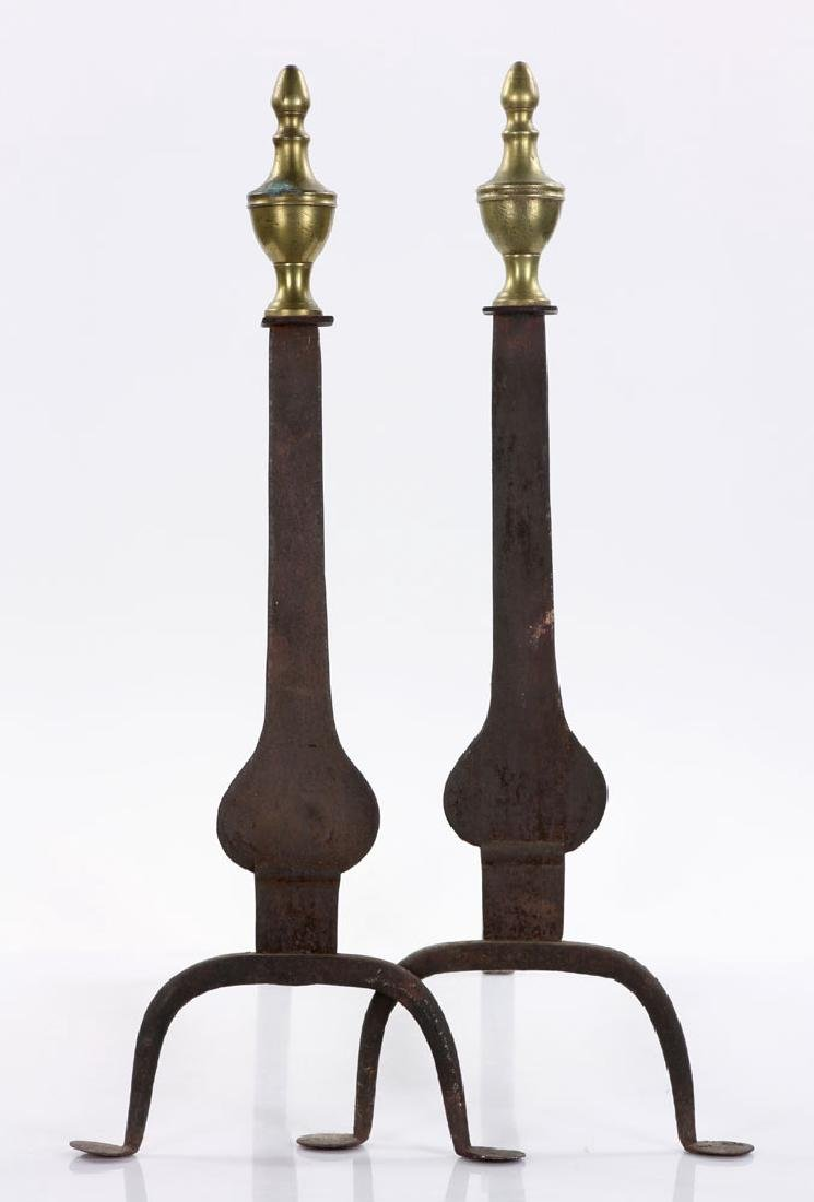 Three Chippendale Andiron Sets - 4