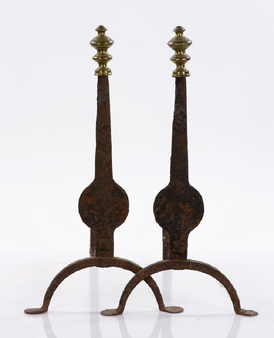 Three Chippendale Andiron Sets - 5