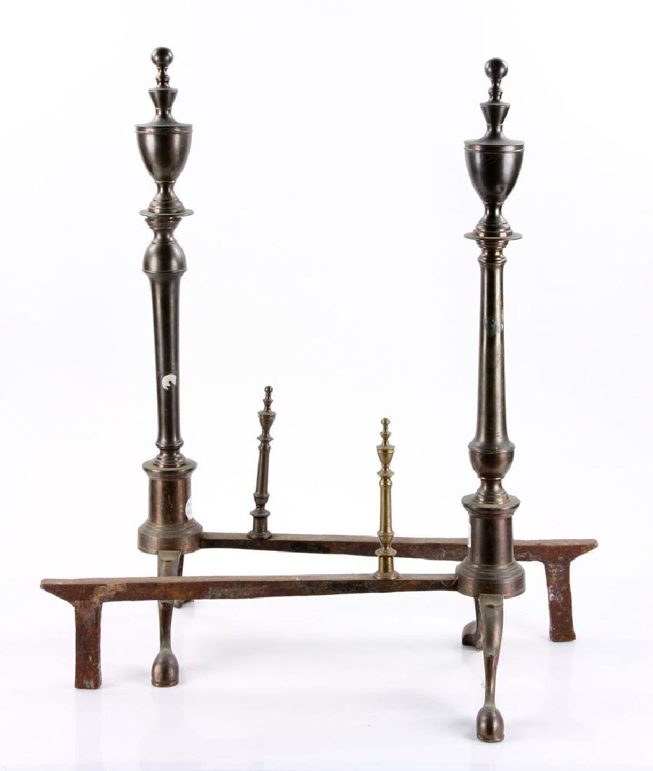 Pair of 18th C. American Bell Andirons - 3