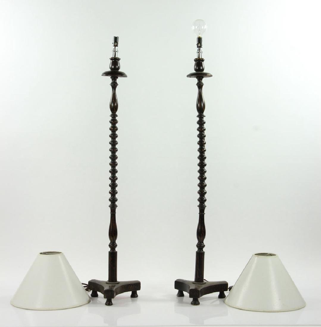 Pair of Wig Stand Lamps - 2
