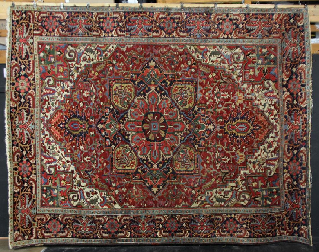 Semi-Antique Heriz Carpet