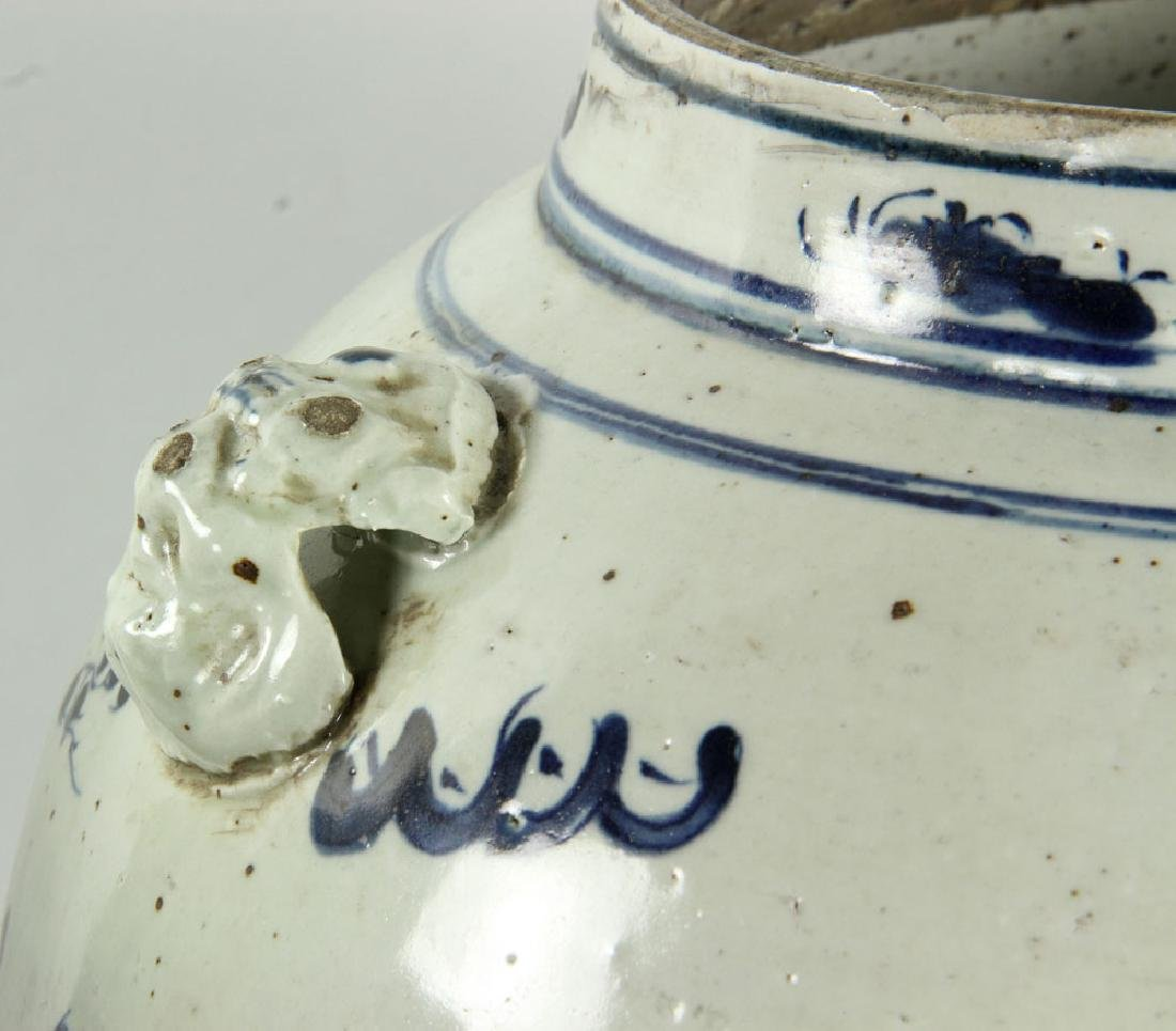 Pair of Blue on Cream General Jars - 6