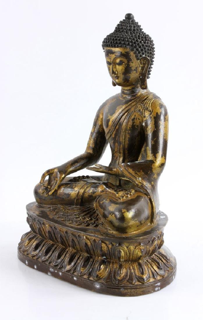 Gilt Bronze Buddha Figure - 3