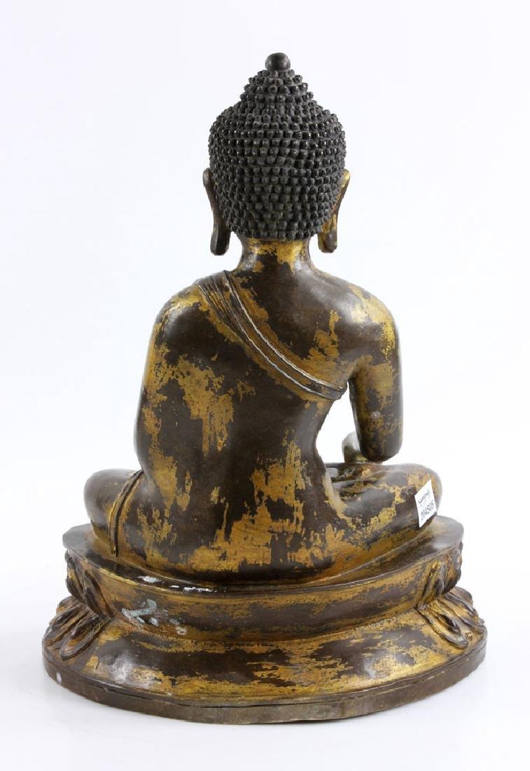 Gilt Bronze Buddha Figure - 5