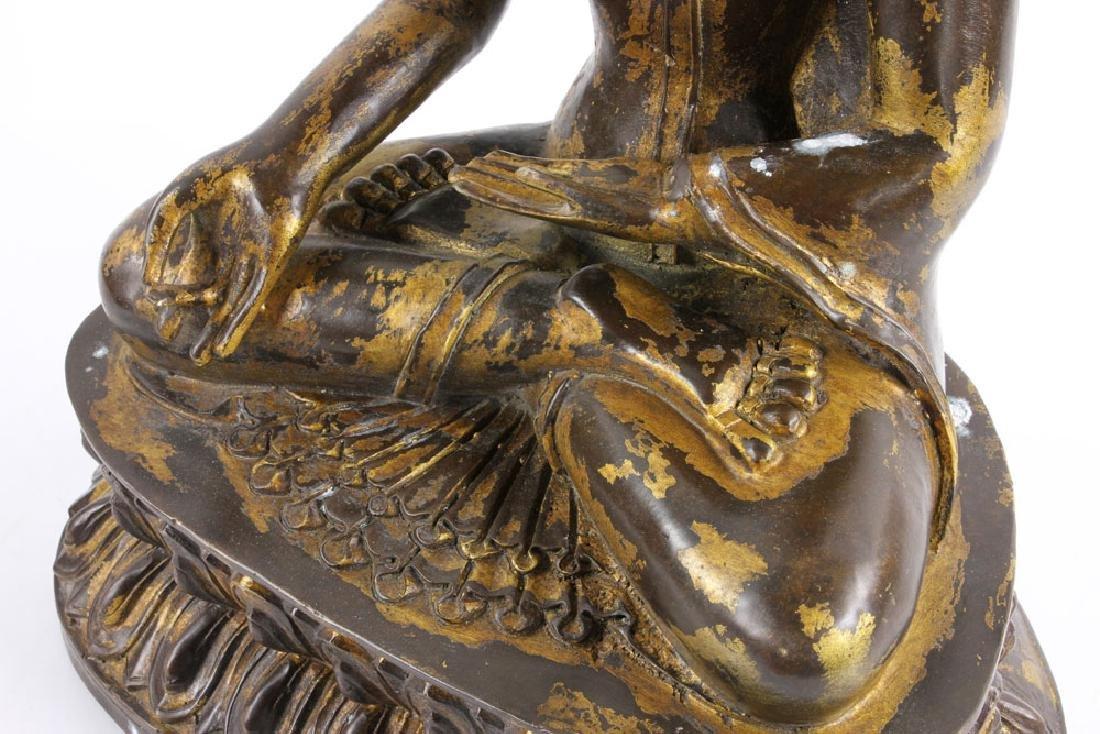 Gilt Bronze Buddha Figure - 9