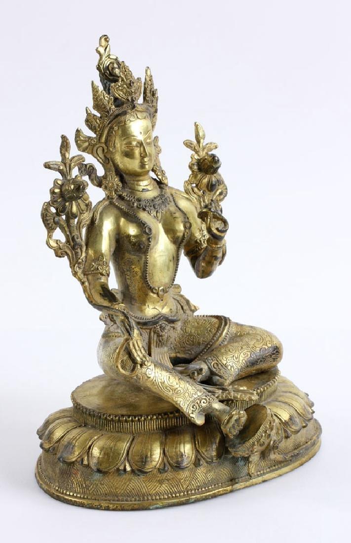 Gilt Bronze Buddha Figure - 2