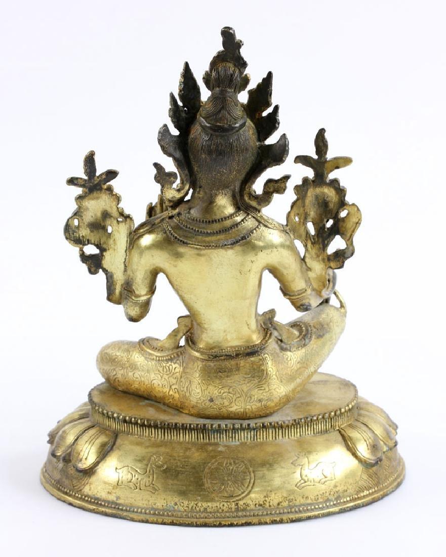 Gilt Bronze Buddha Figure - 4