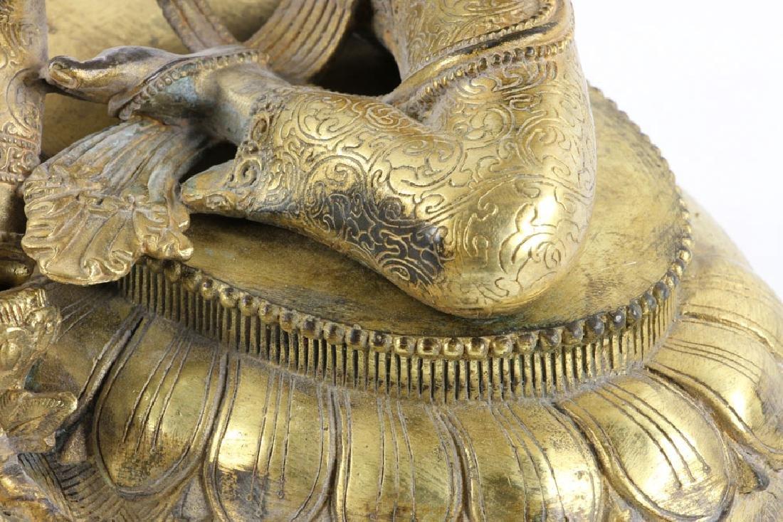 Gilt Bronze Buddha Figure - 8