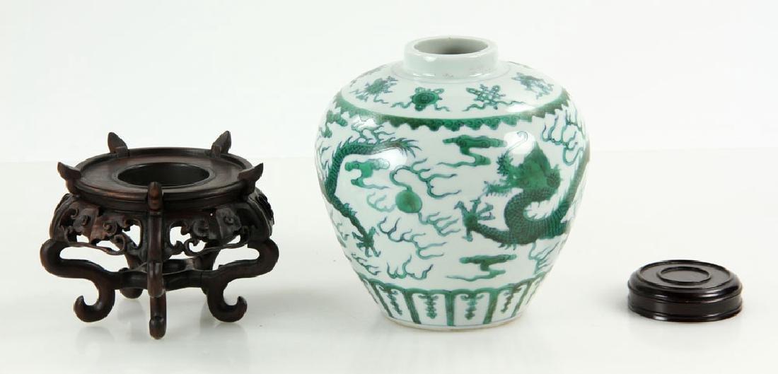 Chinese Qianlong Famille Verte Porcelain Jar - 3