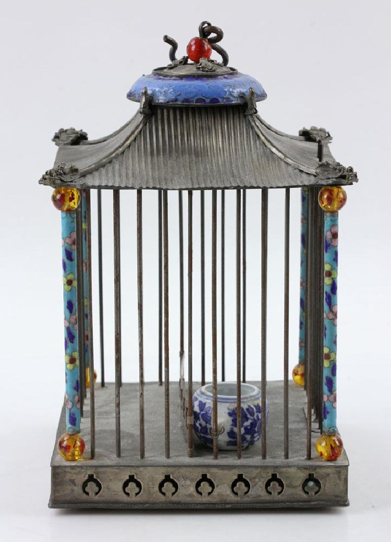 Chinese Republic Period Enameled Bird Cage - 3